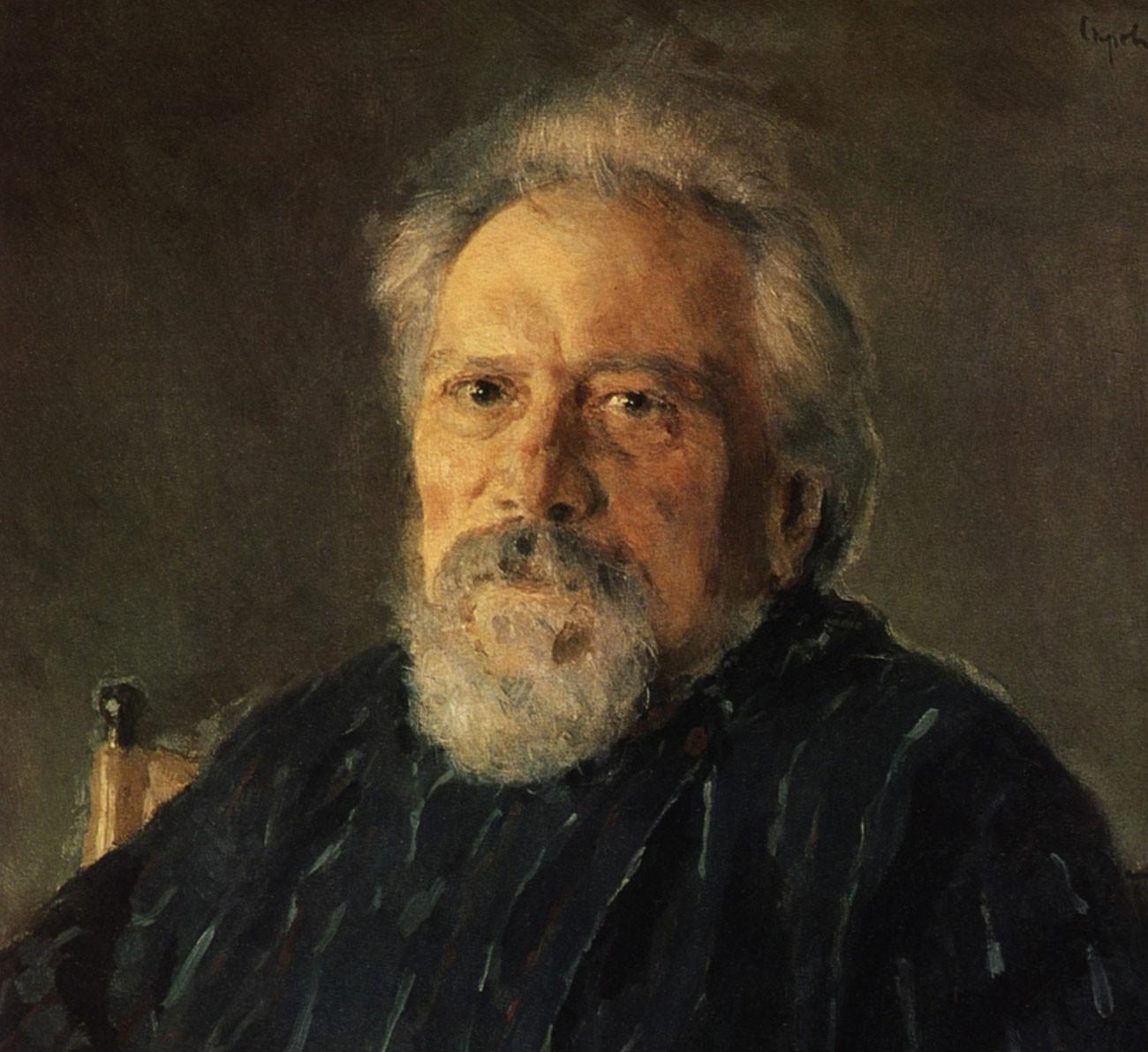 Leskóv retratado por Valentín Serov.