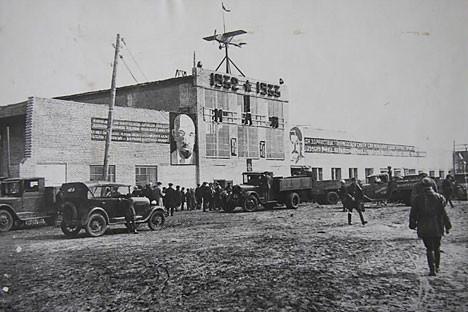 Строежът на авиационния завод в Казан, 1932 г.