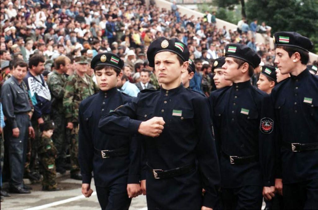 Kadetten der Itschkeria-Widerstandbewegung im Zweiten Tschetschenienkrieg