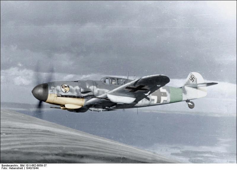 Messerschmitt Me-109 en vuelo.