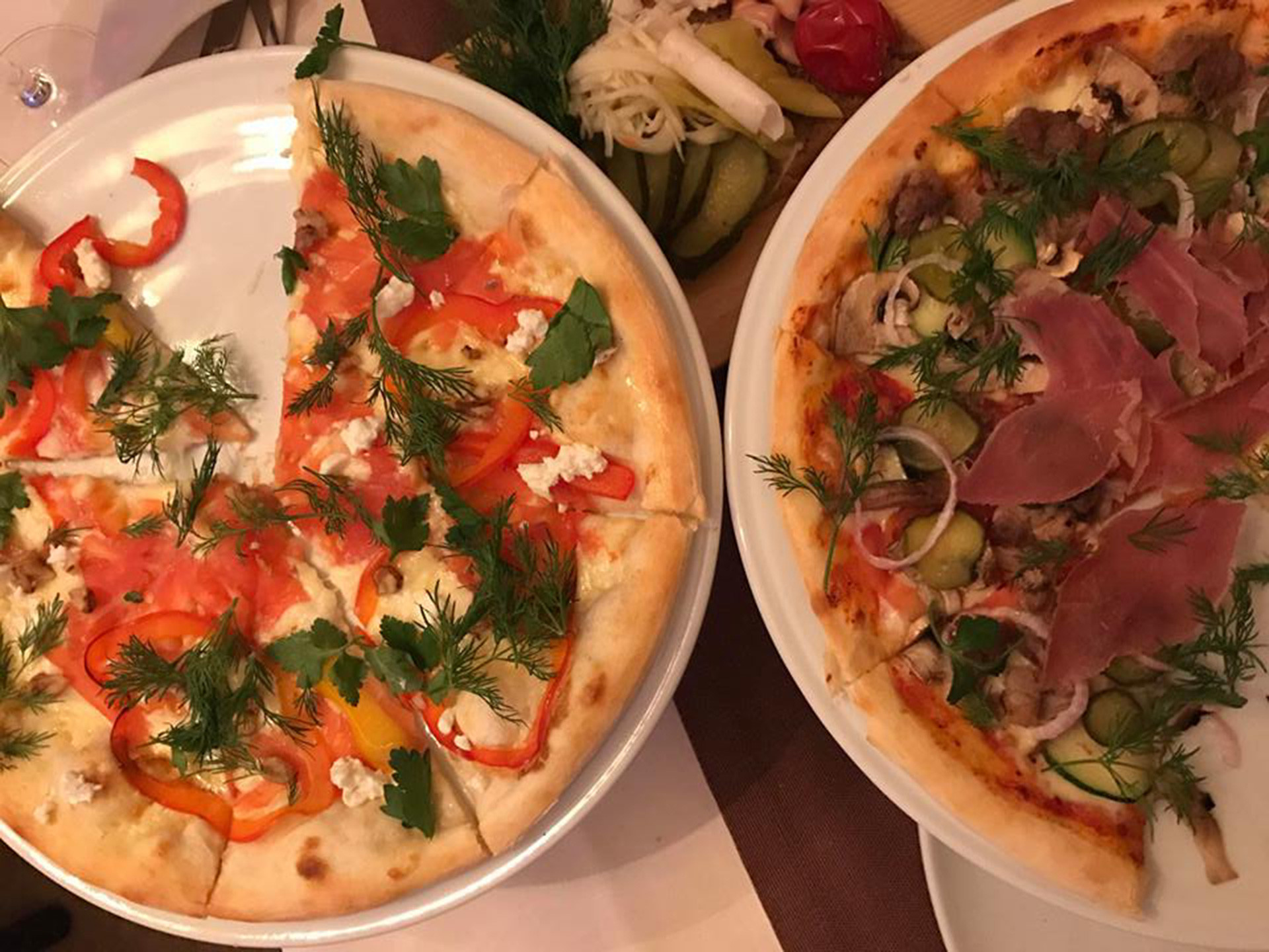 Pizza com dill