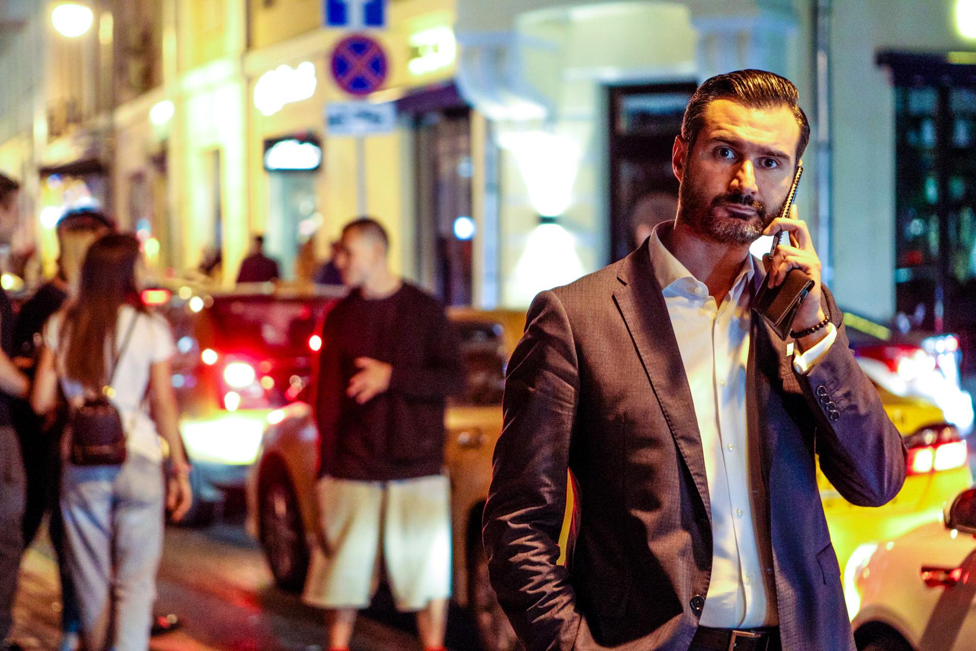 Man on Malaya Bronnaya Street