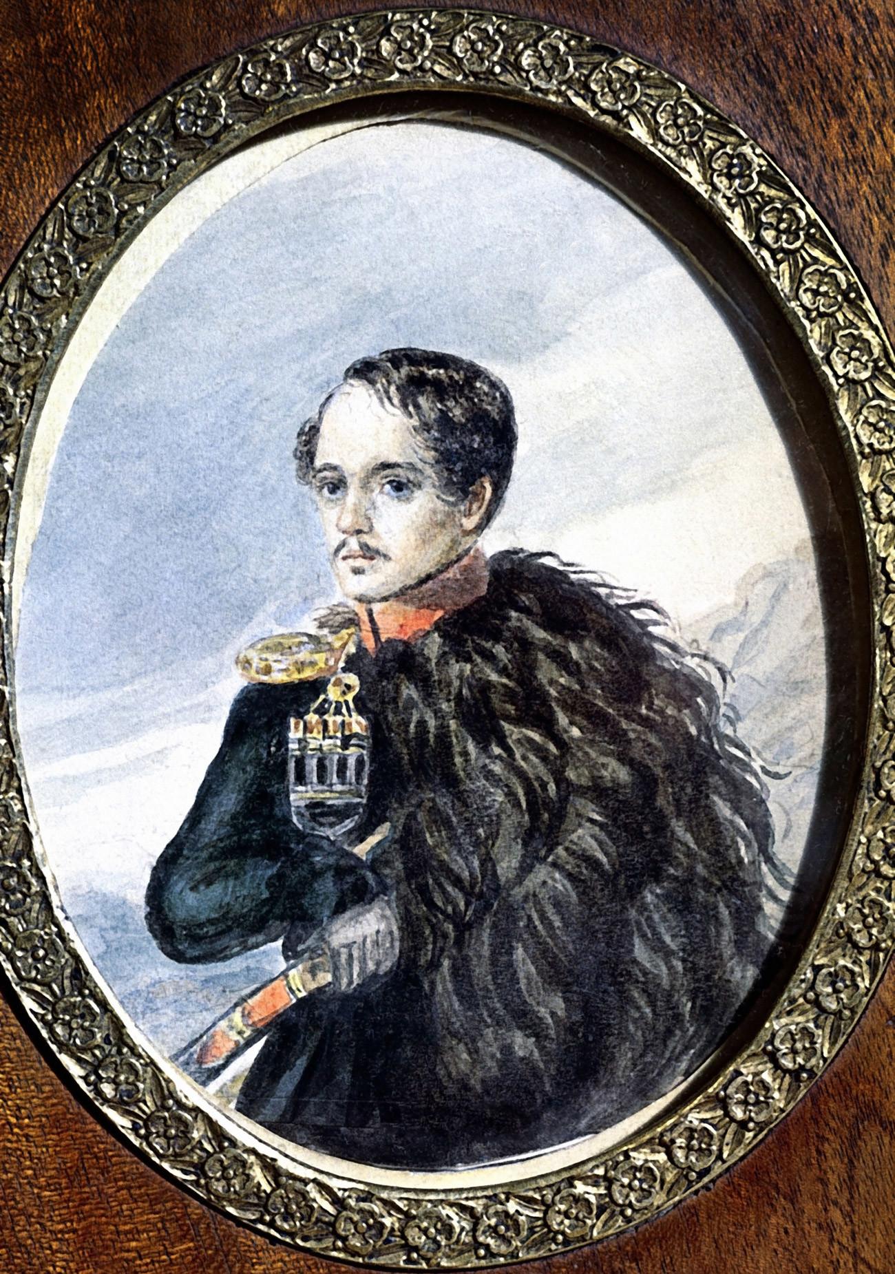 Autorretrato de Lêrmontov.
