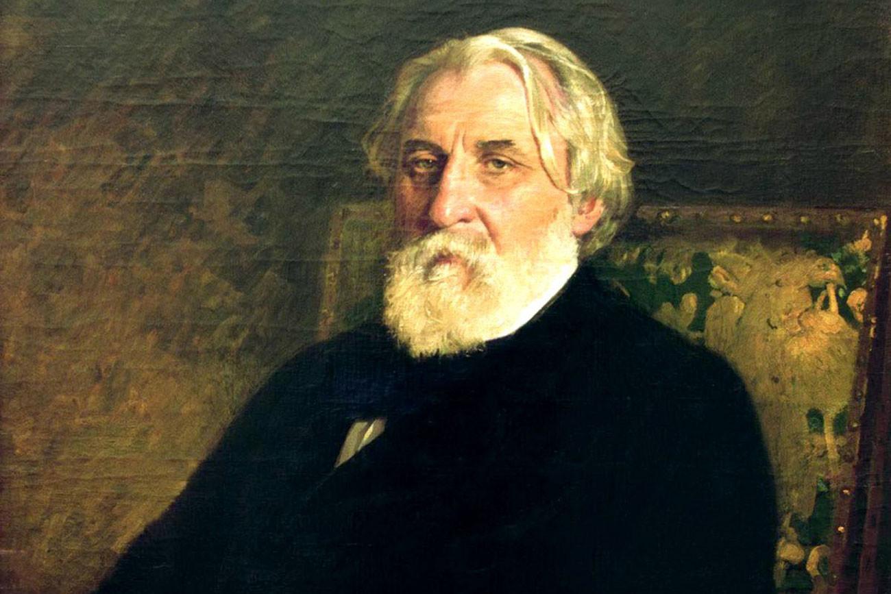 Turguêniev retratado por Iliá Répin.
