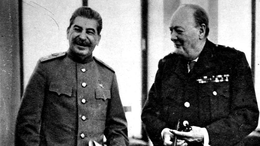 Сталин и Чърчил, 1945 г.