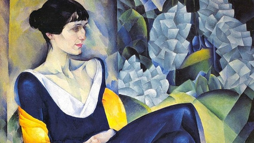 Retrato de Anna Akhmatova feito por Nathan Altman em 1941.