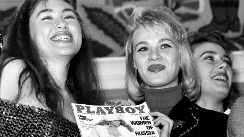 """Die Playboy-Zeitschrift der Februarausgabe 1990, die den """"Frauen von Russland"""" gewidmet ist."""