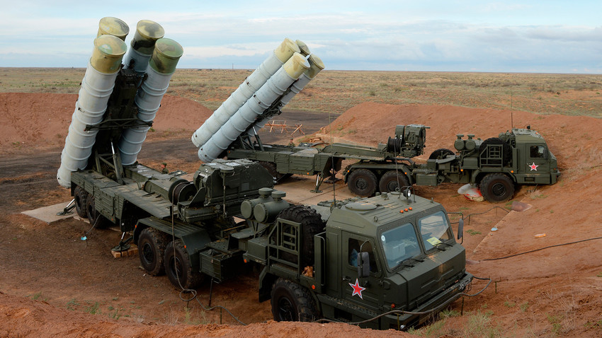 "S-400 ""Triumph"" protects the skies from enemy missiles, jets, bombers, helicopters - and modern and perspective aerial targets including fifth-generation aircrafts, cruise and ballistic missiles, and other hi-tech weapon systems."