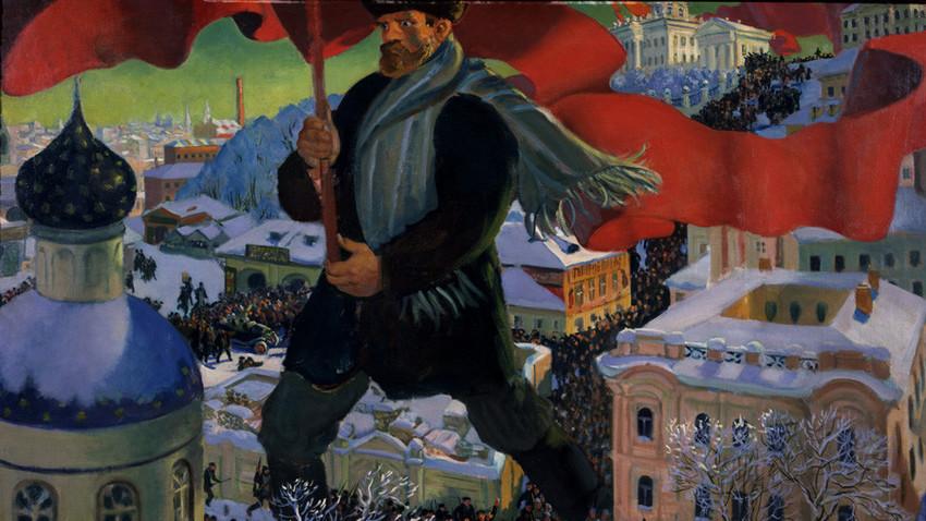 'Boljševik,' 1920., Boris Kustodijev