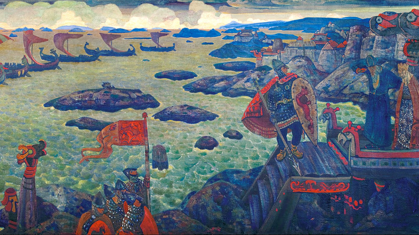 Ready for the Campaign (The Varangian Sea) by Nicholas Roerich.