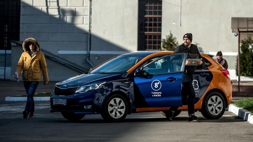 Belkacar carsharing vehicle