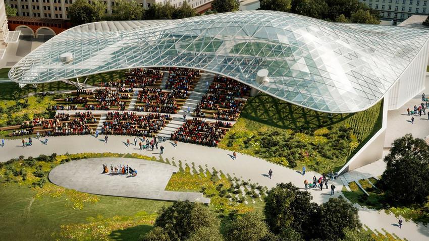 Amfiteatar, park Zarjadje