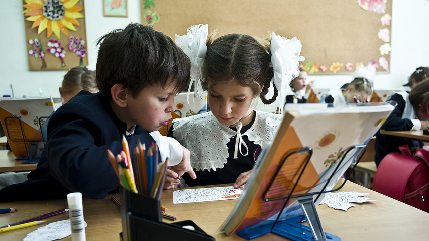 Non-Russian speaking children must reach a level of basic knowledge of Russian to study at state school.