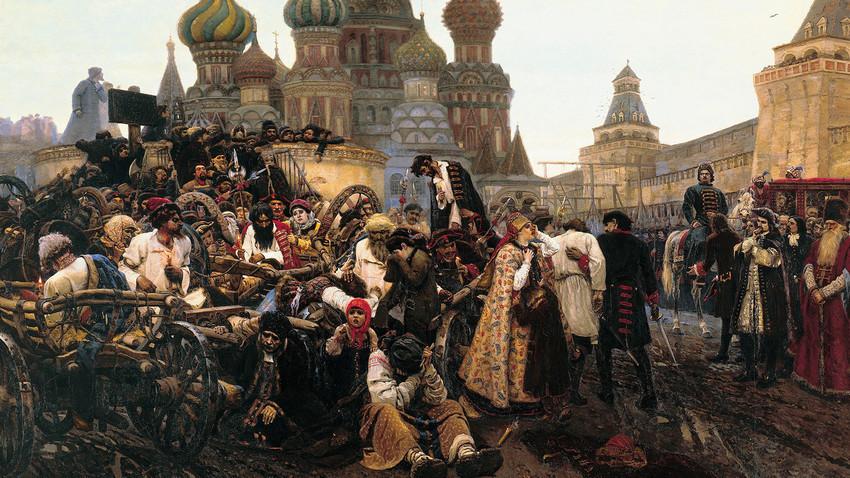 L'exécution des streltsy sur la place Rouge par Vassily Sourikov (1848-1916).