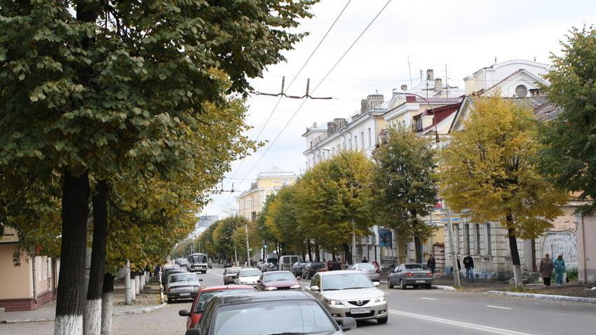 Ulica v mestu Vladimir.