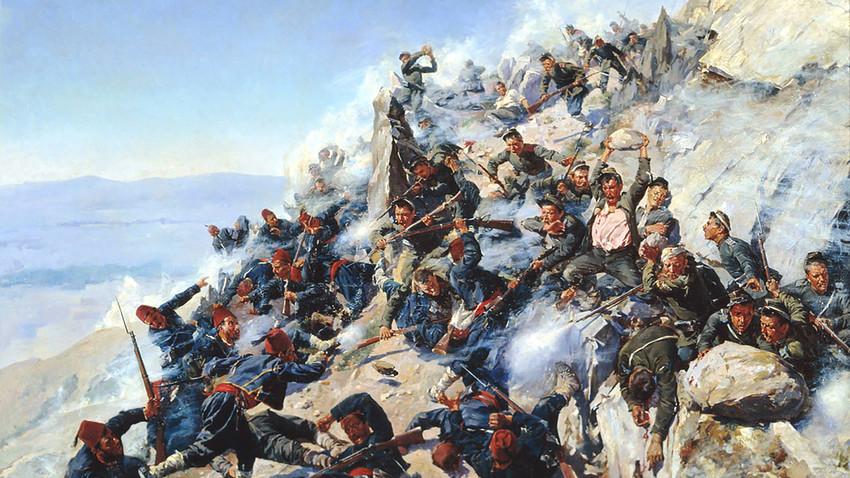 На простору Балкана тек с почетка 19.века неколико пута су се водили жестоки ратови између Русије и Отоманског царства за ослобођење православних народа који на њему живе.