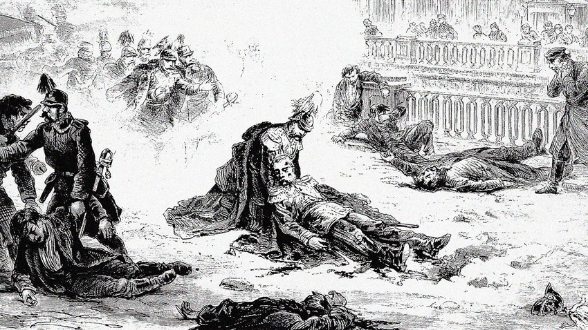 The assassination of Russia's Emperor Alexander II, 1881