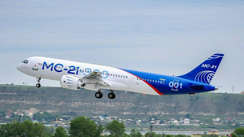 First flight of new MC-21 airliner