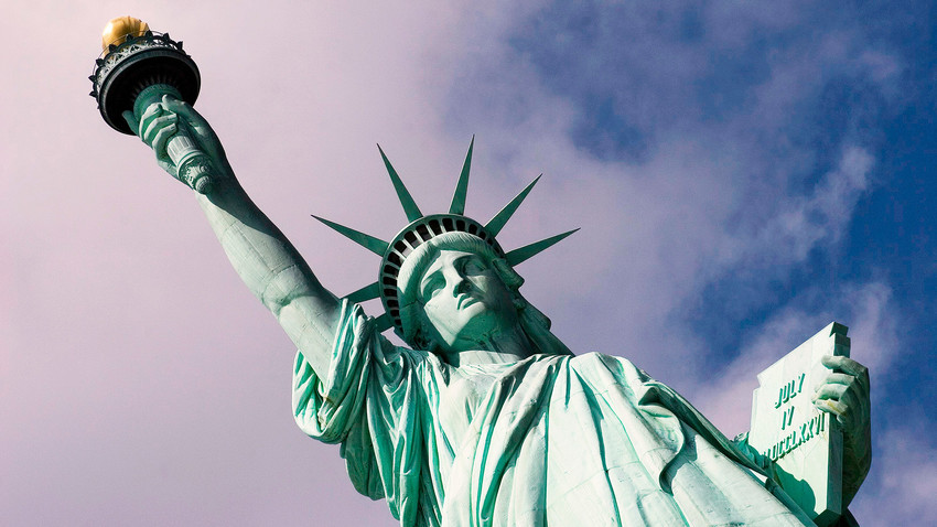 La Estatua de la Libertad en Nueva York.