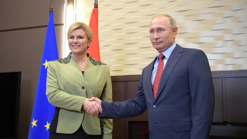 Kolinda Grabar-Kitarović i Vladimir Putin u Sočiju, Rusija.