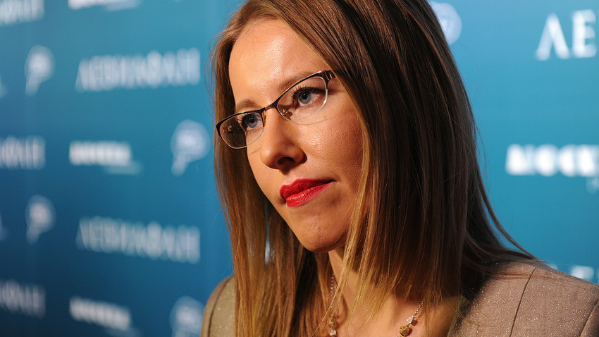 A TV host Xenia Sobchak.