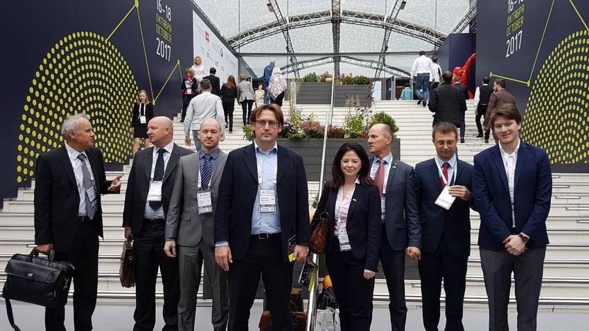 Slovenci na forumu v Inovacijskem centru Skolkovo, Moskva, Rusija.