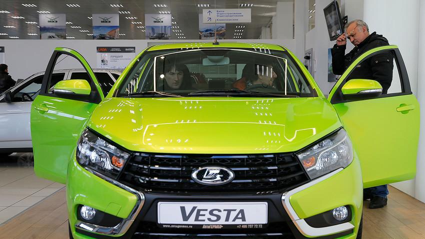 Lada Vesta, АвтоВАЗ, 14 март 2016, Москва.