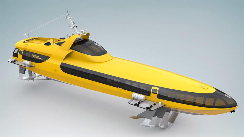 """Прототип на пътническия кораб """"Комета"""""""