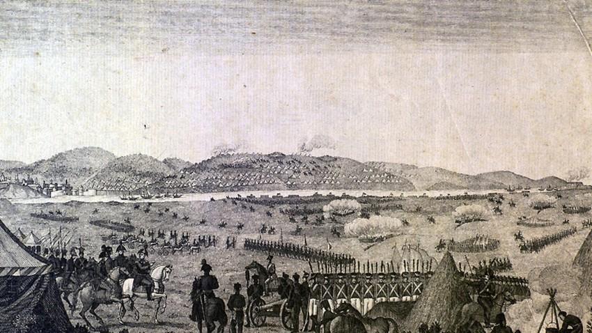 Турците се предават при Слободзия.