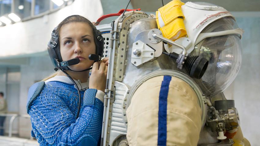 Russian cosmonaut Elena Serova