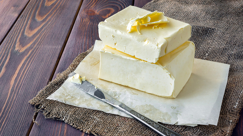 Vologda butter is produced from cream subjected to a special heat treatment, which gives it an exquisite walnut flavor.