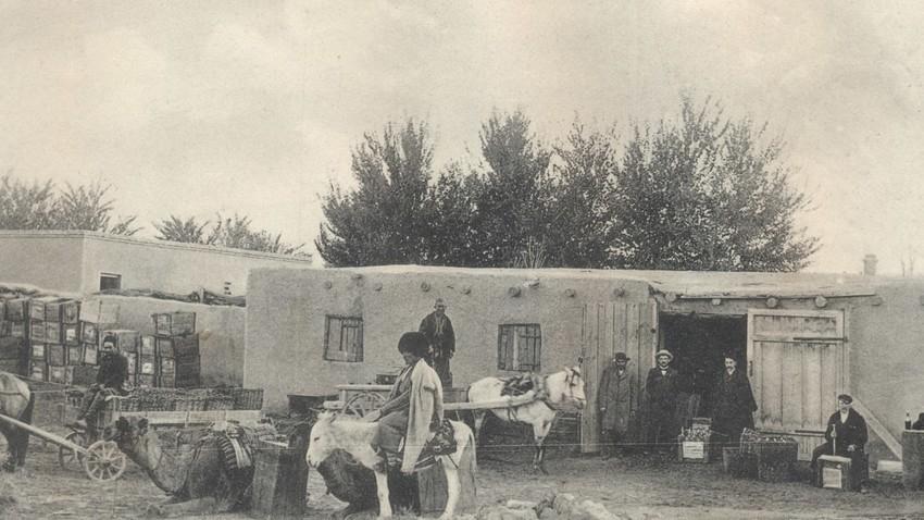 Lager von Schiguli-Bier in Merwe 1918, heute Mary/Turkmenistan