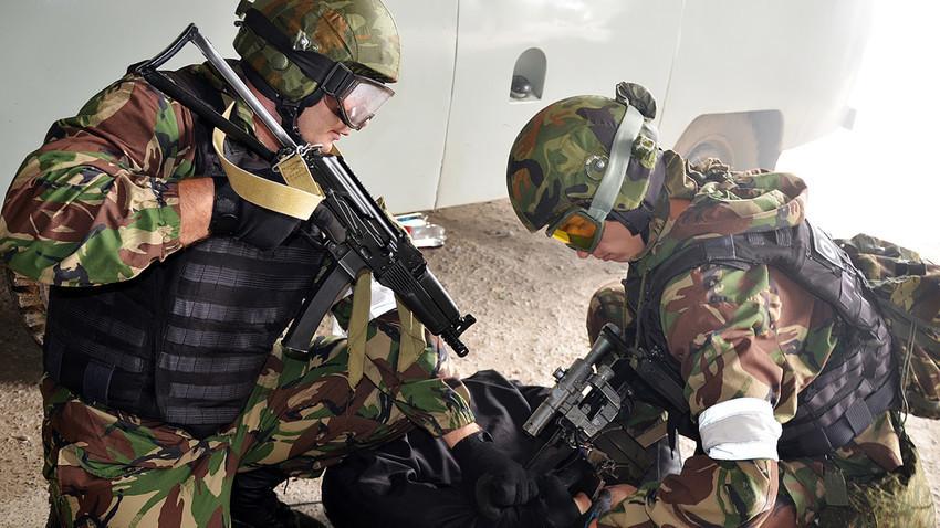 Pripadnici Ruske nacionalne garde na vježbama.