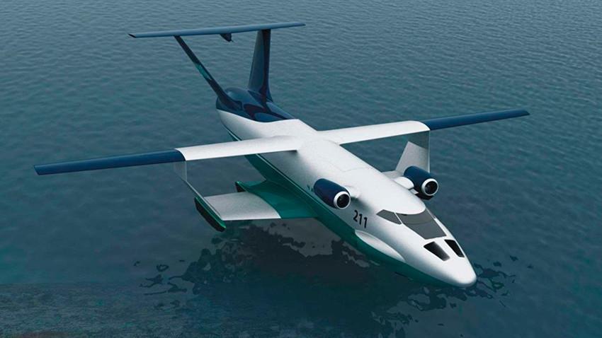 """Първият полет на новия руски военен екраноплан """"Спасител"""" е планиран за 2022-2023 г."""