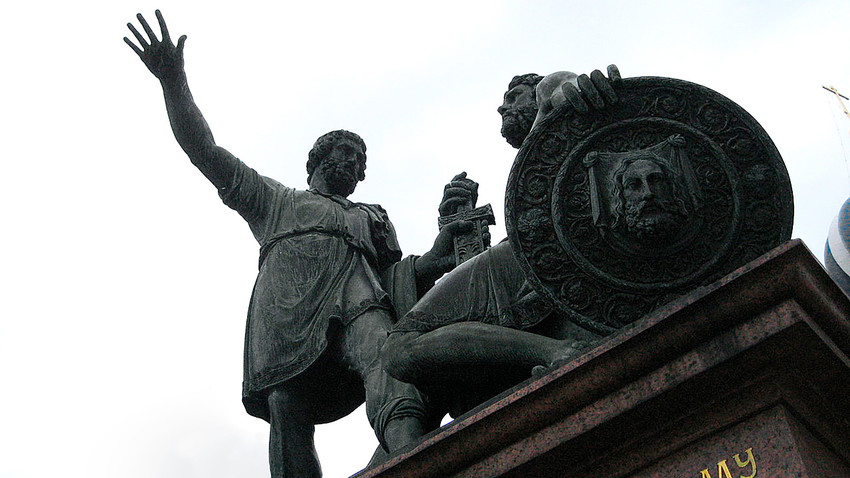 Monument to Minin and Pozharsky in Moscow.