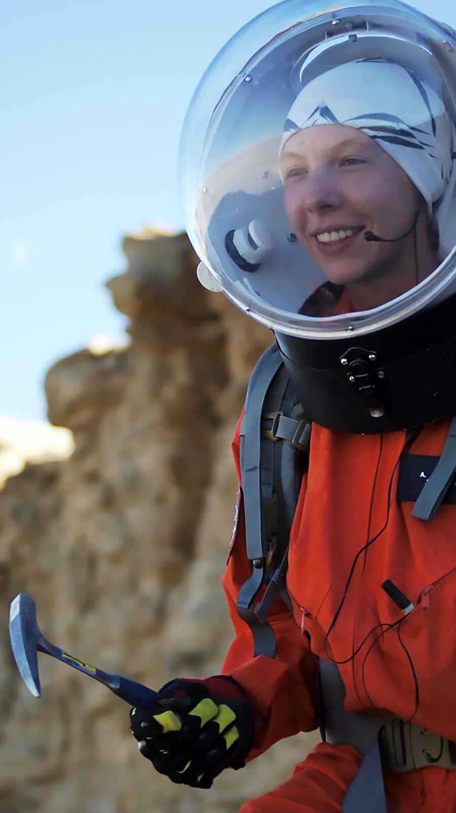 アナスタシアさん、火星砂漠研究基地