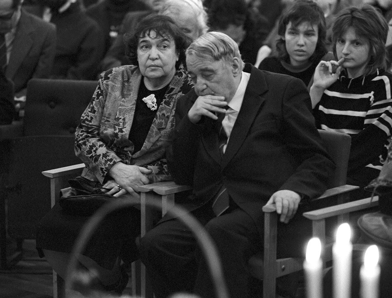 Lev Gumiljov na zabavi v poklicni šoli.