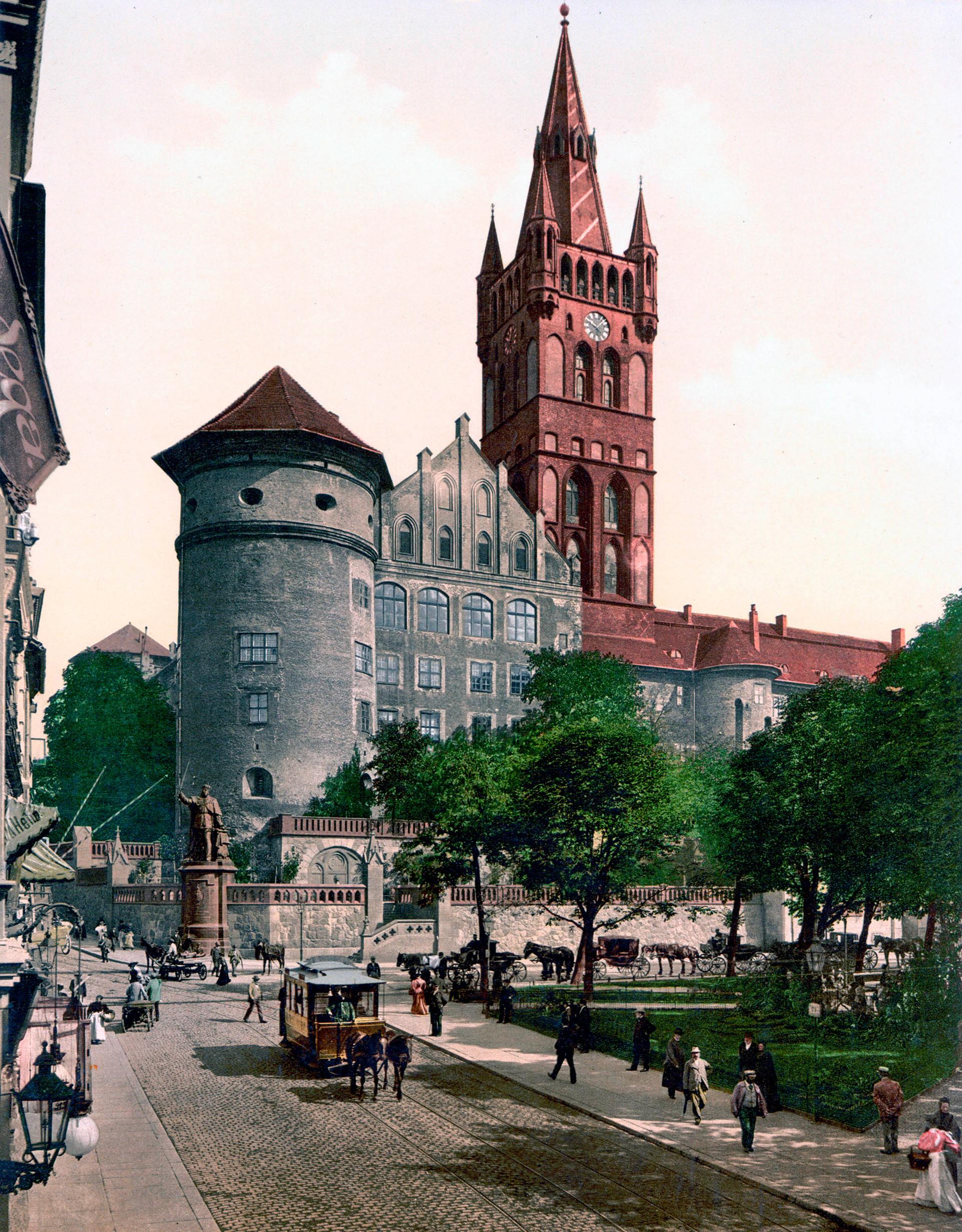Gravura gradu v Königsbergu, današnjem Kaliningradu, 1895.