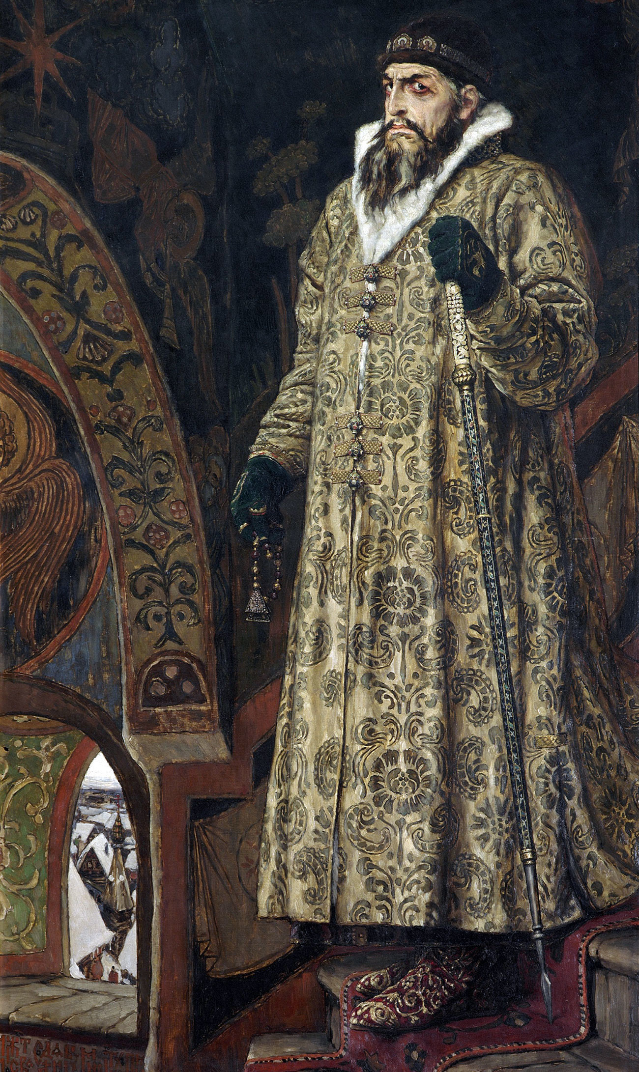 Portret Ivana Groznog, slikar Viktor Mihajlovič Vasnjecov, 1897.