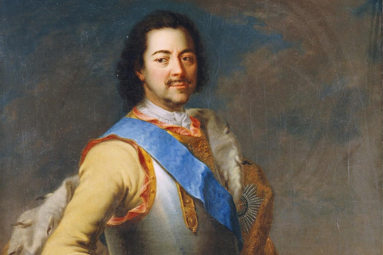 Portret ruskog cara Petra I. (1672.-1725).