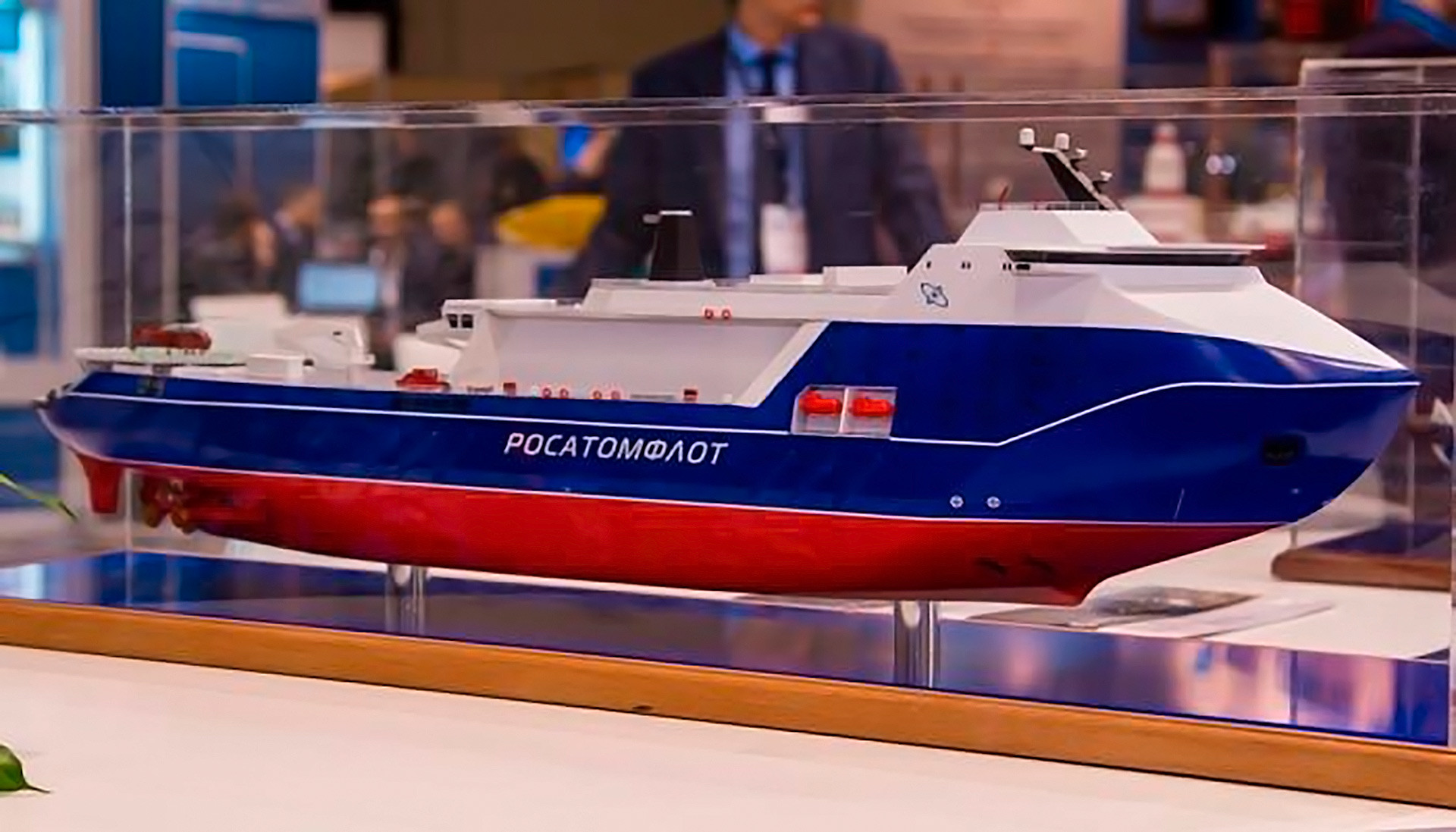 It's one of the big money projects to replace the Soviet era icebreakers currently in service in the Russian fleet. The new one will have a speed of 14 knots (about 24 km/h) and be able to break ice up to 4.4 m thick.