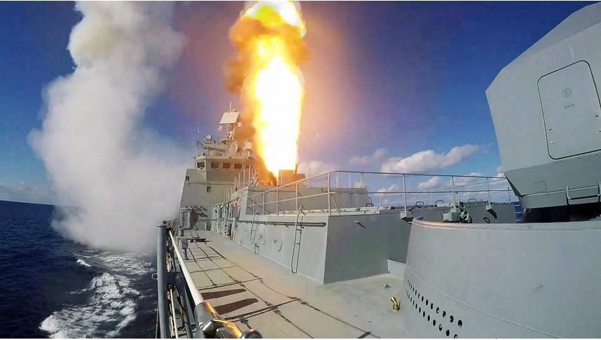 Patruljno ladjo Admiral Grigorovič so prvič opazili v vojaški operaciji v Siriji.