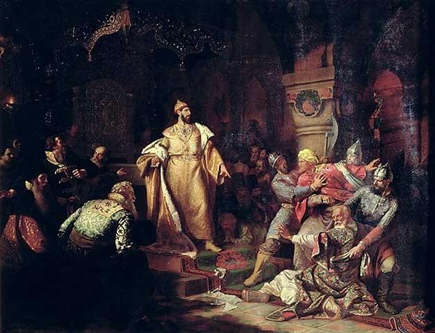 Iwan III. zerreißt Khans Urkunde von Nikolaj Schustow