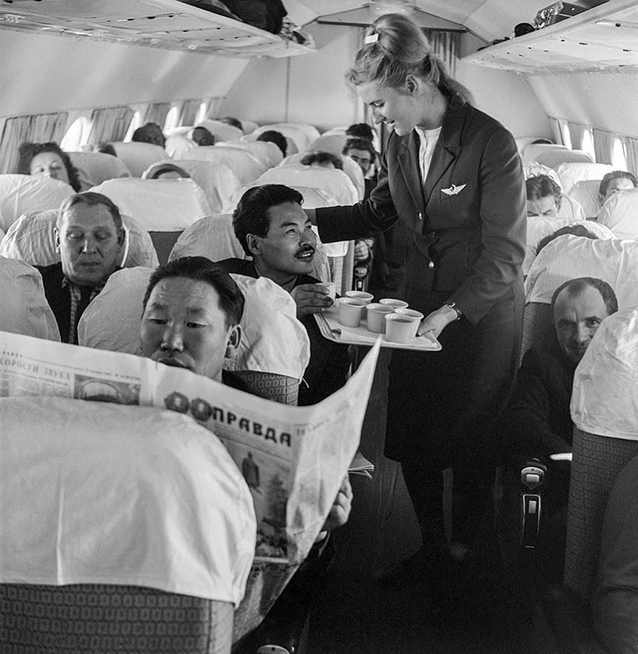 5. oktober 1966. Čukče med udobnim 12-urnim poletom v Moskvo, ZSSR.