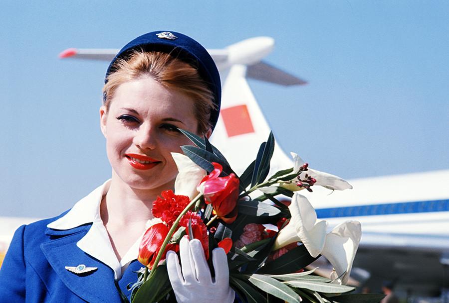 1. junij 1978, ZSSR. Irina Naumova, stevardesa na letalu Il-62M.