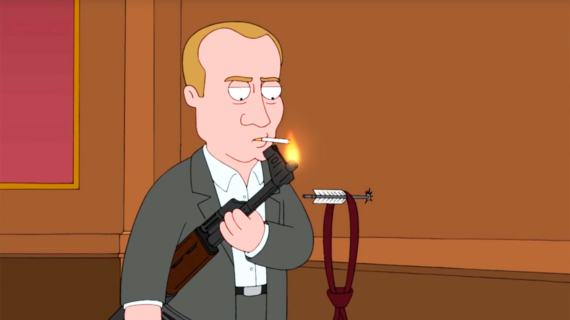 Vladimir Putin dalam serial kartun Family Guy.