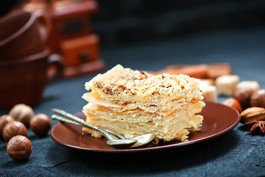 The Napoleon cake.
