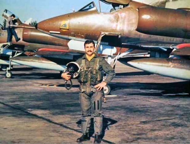 Argentinian pilot of A-4 Skyhawk