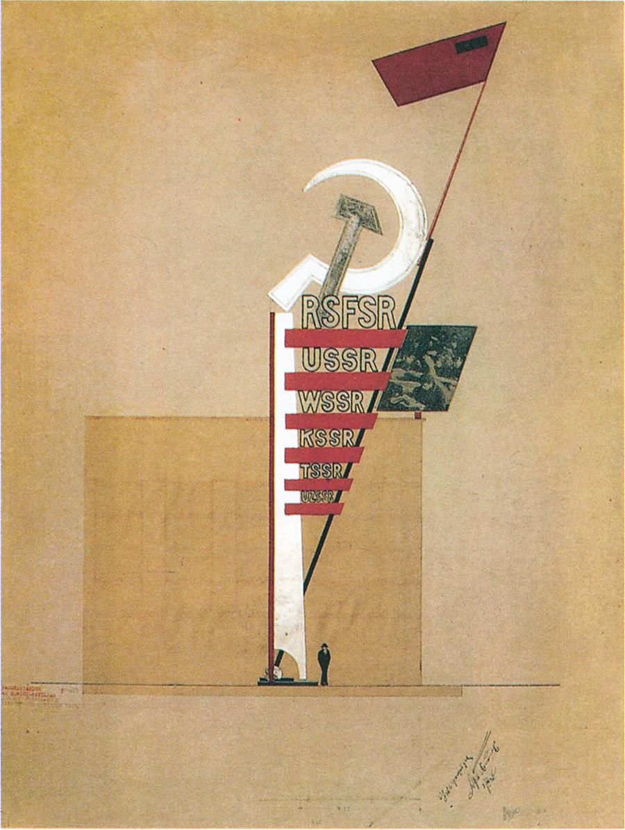 """Dal padiglione sovietico della mostra """"Press"""" a Colonia, 1928"""