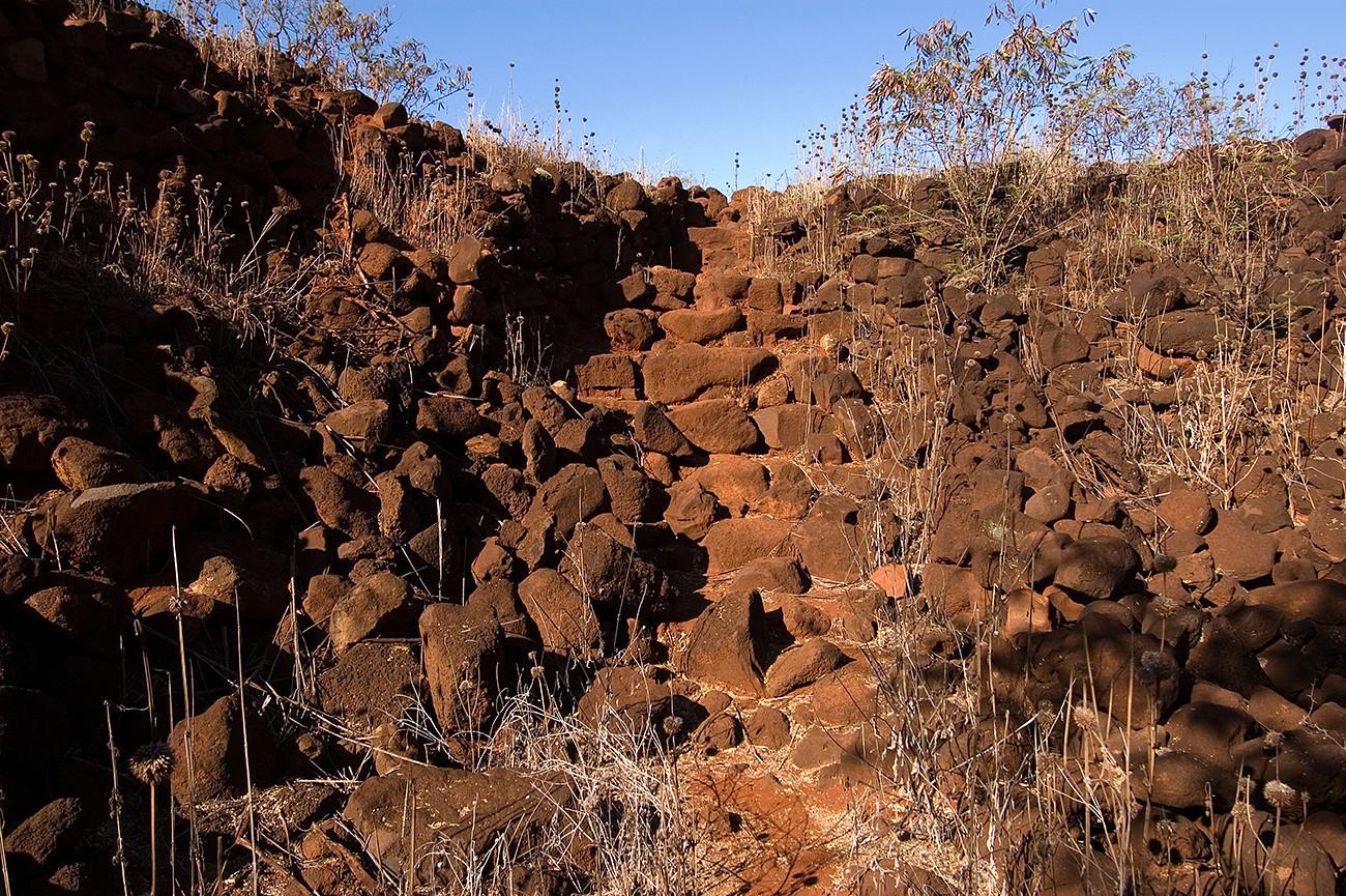 Le rovine del forte Elizabeth sull'isola Kauai, nelle Hawaii